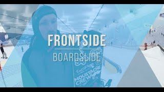 Школа сноуборда. Урок 2. Джиббинг. Frontside boardslide