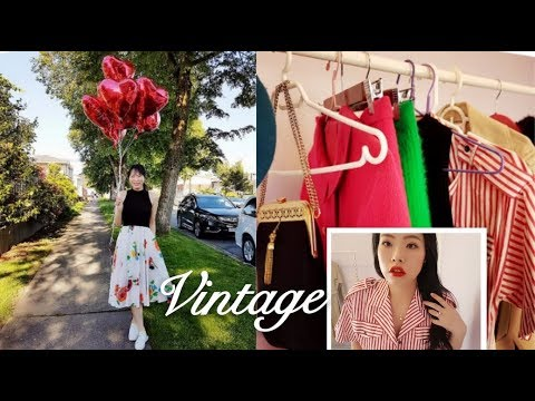 My Vintage Collections (Try on haul) | 我在复古店里淘到的衣服包包帽子分享