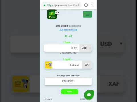 How To Sell Bitcoin Instantly On Pursa And Receive MTN Mobile Money (MoMo) Or Orange Money (OM)