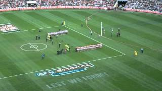 Video 2012 - AFL Anzac Day Game - The Last Post! Live @ MCG!! download MP3, 3GP, MP4, WEBM, AVI, FLV Desember 2017