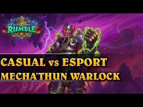 CASUAL vs ESPORT - MECHA'THUN WARLOCK - Hearthstone Decks (Rastakhan's Rumble)