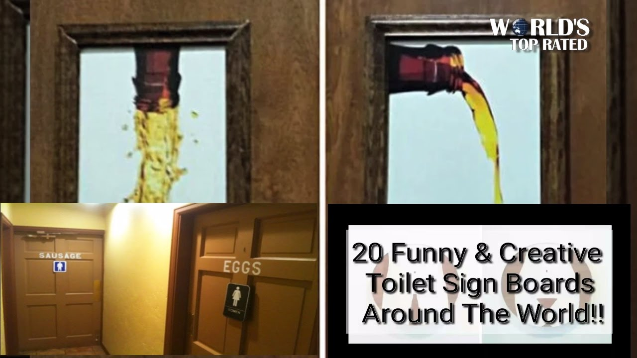 20 Creative And Funny Toilet Signs Worlds Top Rated