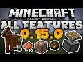 ALL FEATURES COMING in 0.15.0!!! - Horses, Commands, Pistons & More! - Minecraft PE (Pocket Edition)