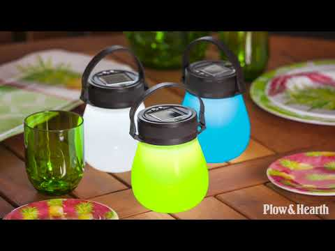 Solar Firefly Lantern in Waterproof Collapsible Silicone SKU# 54200 - Plow & Hearth
