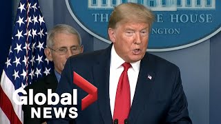 """Coronavirus outbreak: Trump says return to normal by Easter would be a """"great timeline"""" 
