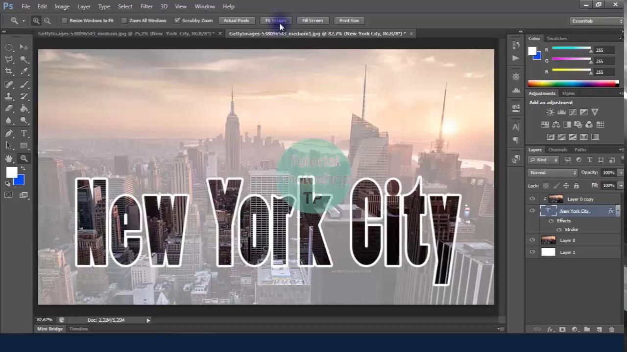 Cara Edit Foto dan Teks Keren dengan Photoshop - YouTube