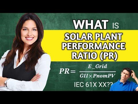 HOW TO CALCULATE SOLAR PLANT PERFORMANCE RATIO (PR)   SOLAR PV DESIGN