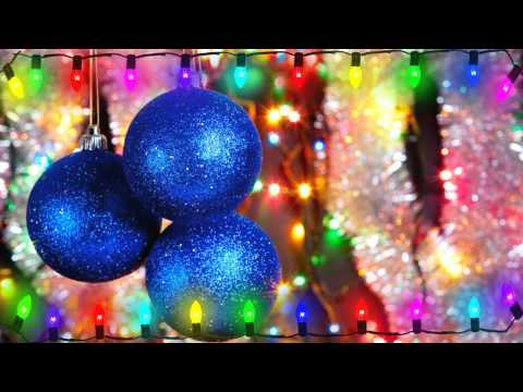 Flickering Christmas Lights on Christmas Ornament Background Motion Graphic Free Download