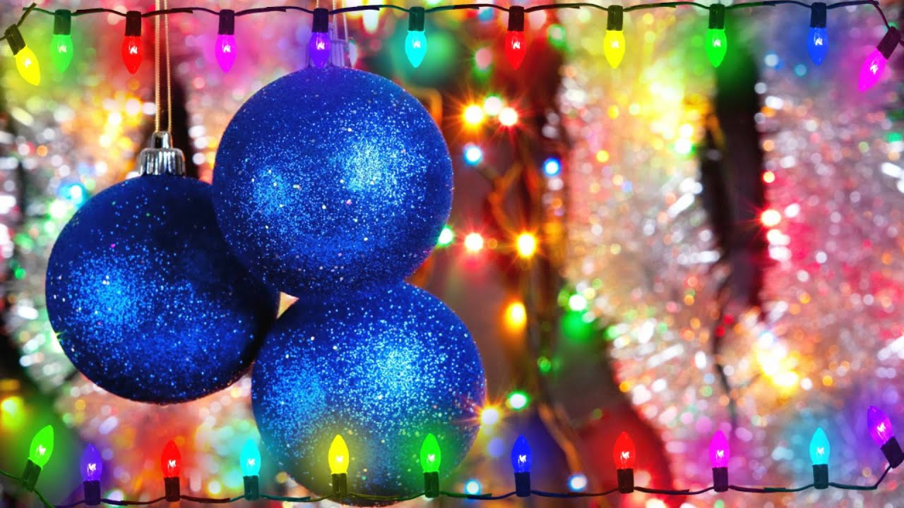 flickering christmas lights on christmas ornament background motion graphic free download youtube - Christmas Motion Lights