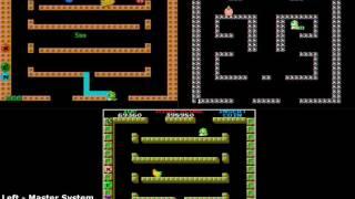 Bubble Bobble - Sega Master System vs Nes vs Arcade (Platform Comparison)