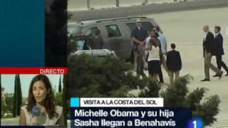 Michelle Obama y su hija Sasha, en la Costa del Sol