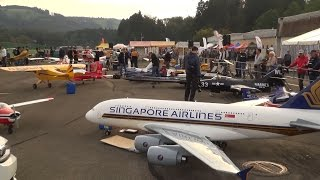 R/C Jet+R/C Airplane+R/C Helicopter WORLD BIGGEST Radio controlled Modell Hausen 2016