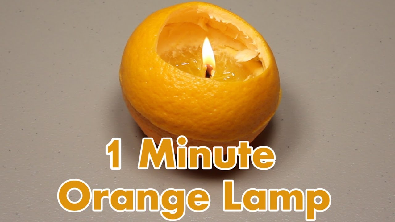 Make A Lamp From An Orange In 1 Minute - Youtube-6352