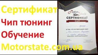 ⭐️ Сертификаты ⭐️ Чип тюнинг обучение Motorstate.com.ua