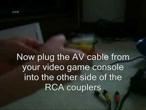 How to record video games without an AV out port