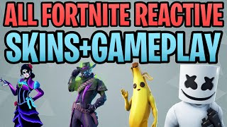 All Fortnite Reactive Skins and What They Do In-Game Gameplay (Stratus, Peely, Deadfire) Season 9-10