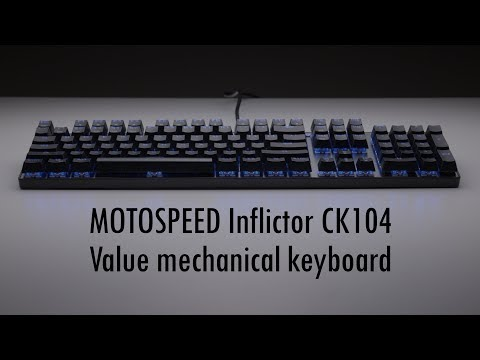 Retro Gaming with a modern mechanical keyboard ft MOTOSPEED Inflictor CK104 with blue switches