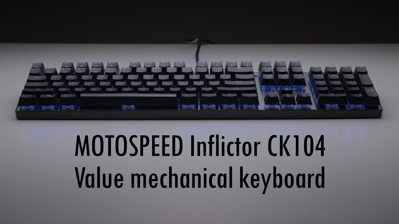 2f61858ac26 Retro Gaming with a modern mechanical keyboard ft MOTOSPEED Inflictor CK104  with blue switches