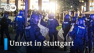 Why did local youth clash with police in the German city of Stuttgart? | DW News