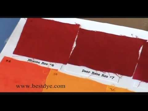 Colorado Wholesale Dye Corp. Dye Color Chart