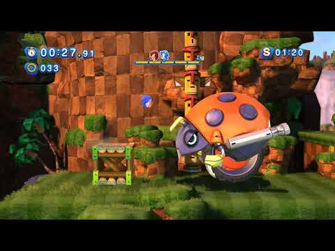 Sonic Generations (PC): All Green Hill Classic Challenge Acts (S-Ranks)