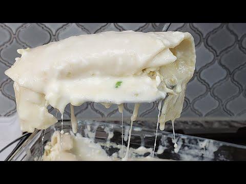 WHITE CHICKEN ENCHILADAS | Chicken Enchiladas With White Cream Sauce