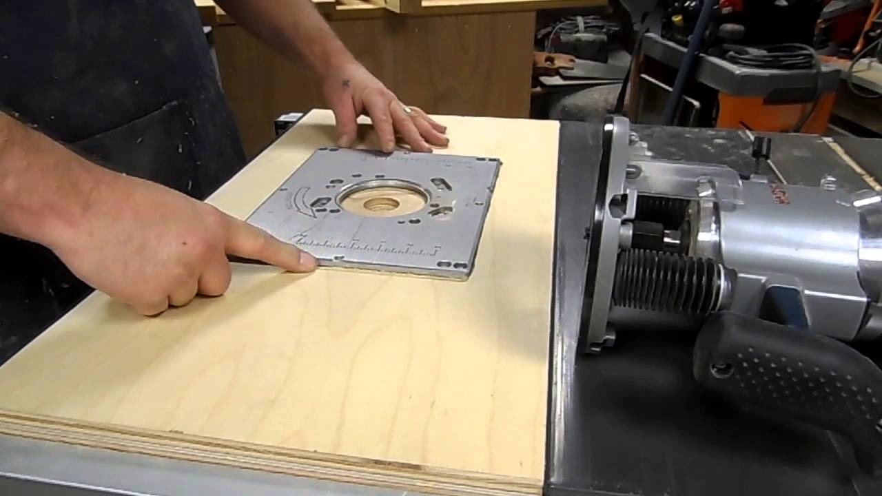 Gpw 42a making a tablesaw router insert part 1 the build youtube greentooth Image collections