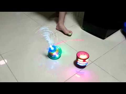 Ebay LED Light Laser Color Music Gyro Peg Top + Classic Retro Music LED Gyro Peg Top toy