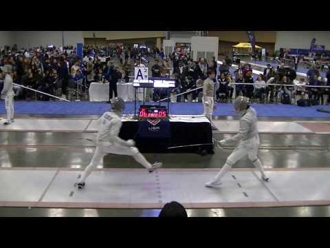 2017 Jan NAC Junior Men's Saber T16 Solomon vs Zhao