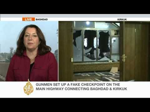 Al Jazeera's Jane Arraf reports about the roadblock attack