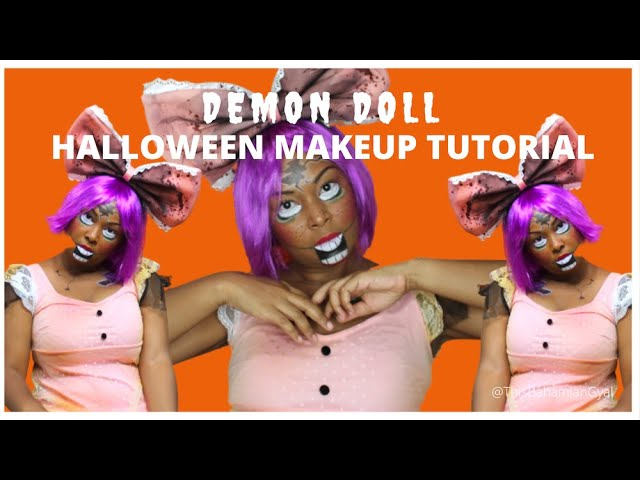 CREEPY DEMON DOLL HALLOWEEN MAKEUP TUTORIAL | This Bahamian Gyal