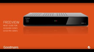 Goodmans Freeview Recorder - Reset & Format Guide