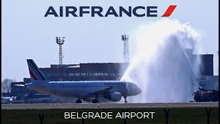 AIR FRANCE Airbus A320 | Inaugural Arrival and Water Salute @ …