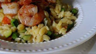 Seared Shrimp &  Veggie Orzo - Gluten Free