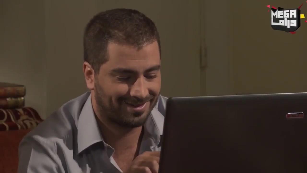 الشيخ تعلم ع النت وبلش دردشة مع الصبايا - مسلسل حارة المشرقة