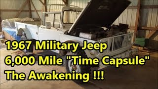 Preserved 67 Gladiator Jeep Revival: Military Version - Dormant 30 Years w/ 6K Original Miles