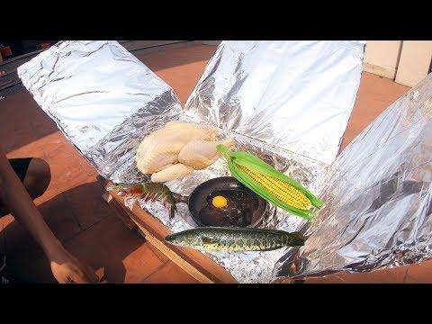 PHD | Nướng Đồ Ăn Bằng Bếp Năng Lượng Mặt Trời | Bake Food With A Solar Stove