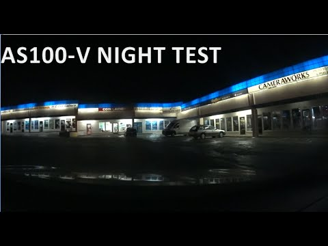 Sony AS100-V Low Light Dash Cam Test