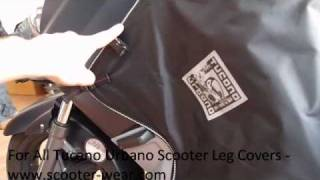 scooter leg cover review and fitting tucano urbano termoscud www scooter wear com
