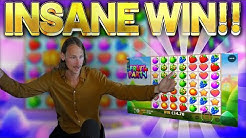 INSANE WIN!!! Fruit Party BIG WIN - Casino Slots from Casinodaddys live stream