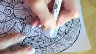 Speed Drawing Give Thanks Quigtangle Zentangle