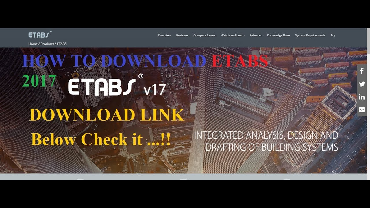 How to download ETABS 2017 Free with Crack & install