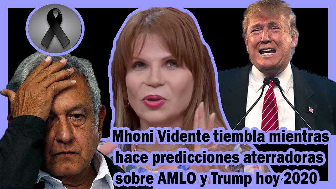 Mhoni Vidente tiembla mientras hace predicciones aterradoras sobre AMLO y Trump hoy 2020