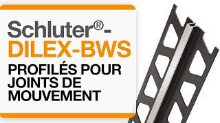 Comment installer le profilé de joint de mouvement  : Schluter®-DILEX-BWS