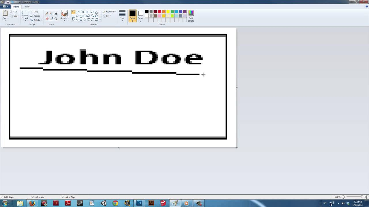 How to make a business card in paint digital art ms paint youtube colourmoves