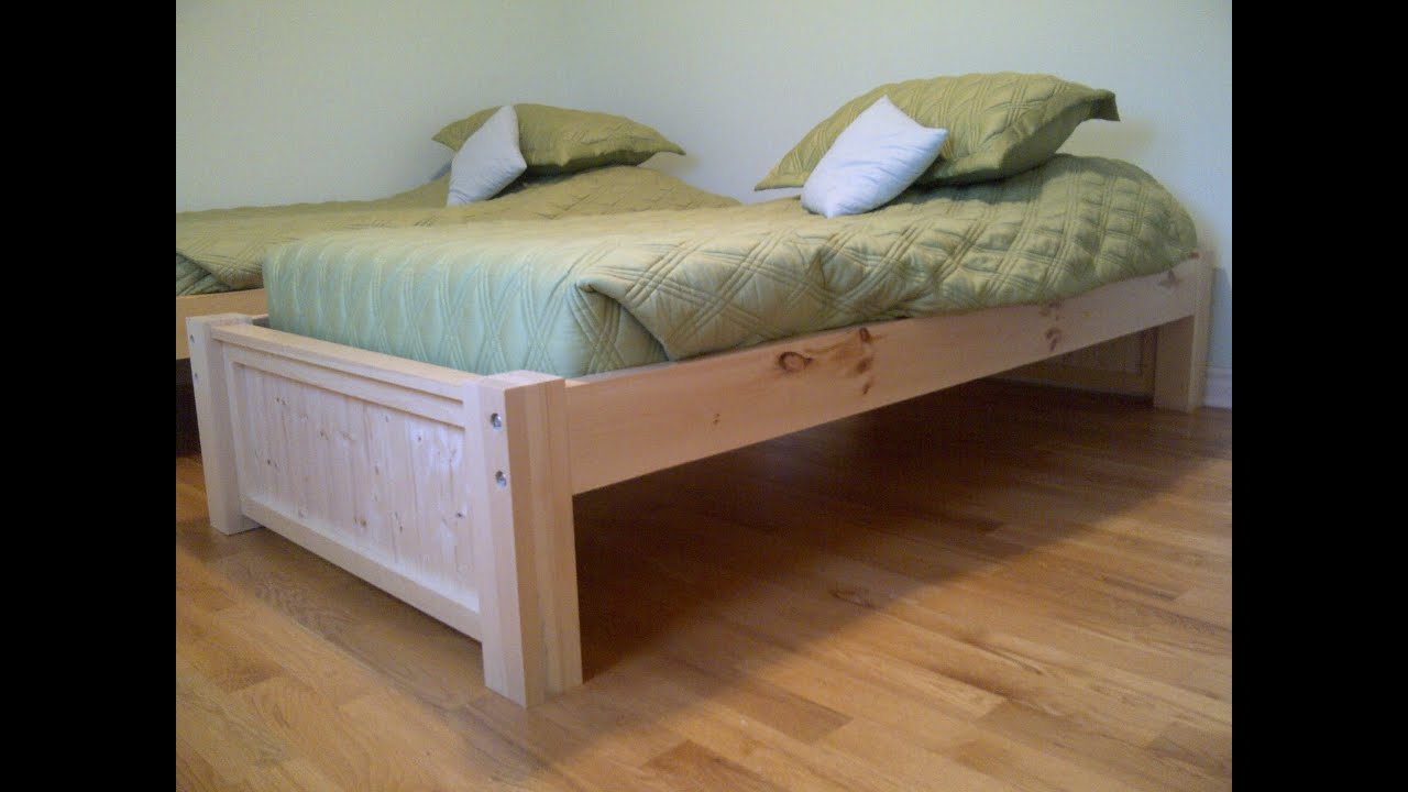 twin bed frame twin bed frame and headboard youtube - Twin Bed And Frame