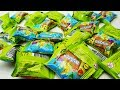 LIDL Stikeez 2018 unboxing blind bags vegetables fruits Pumpkin Surprise packs opening plop Obst & G