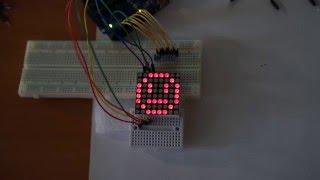Arduino Uno + LED-matrix 8x8 1588ABEG-5 (bicolor)