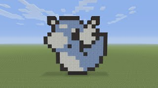 Minecraft Pixel Art - Dratini Pokemon #147