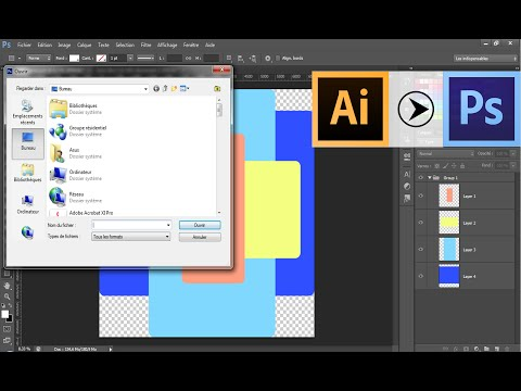 How To Convert Illustrator File (.AI) To Photoshop (.PSD) With LAYERS